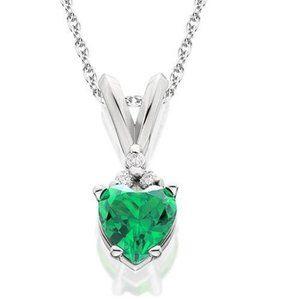 Jewelry - Prong Set Green Emerald And Diamonds 3.30 Carats P